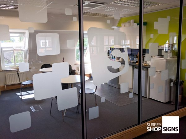 Frosted Window Graphics Amp Printed Graphics Surrey Shop Signs