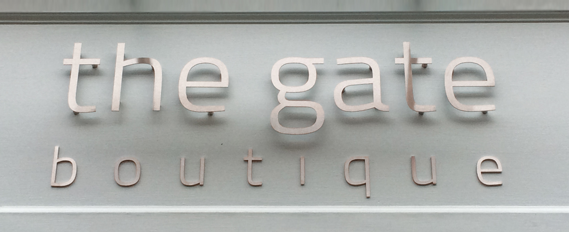 Top Brushed Stainless Steel Shop Sign Letters - Surrey Shop Signs ZM48